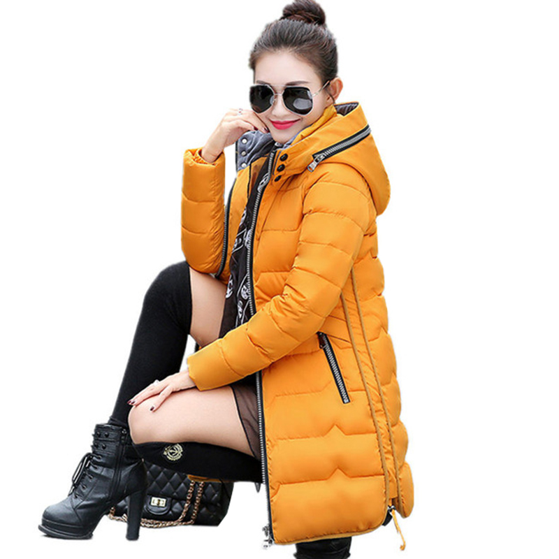 Winter Jacket Women Cotton Parkas Coat 2018 New Fashion Hooded Long Outerwear Slim Plus Size 6XL 7XL Female Wadded Jacket Z110-in Parkas from Women's Clothing    1