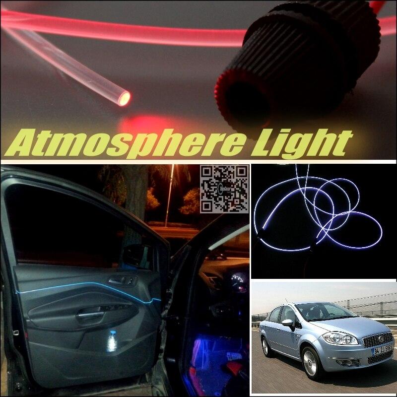 Car Atmosphere font b Light b font Fiber Optic Band For Fiat Linea Furiosa Interior Refit