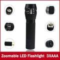 1 шт. подчеркнул 2000 Люмен 3-Mode CREE LED военный лазерный светодиодный Фонарик Масштабируемые Фокус Факел Бесплатная доставка
