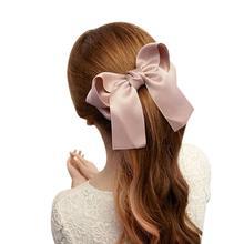 VOT7 vestitiy 14cmX15cm Women Girls Cute Large Big Satin Hair Hair Clip Boutique Ribbon Bow,Aug 9