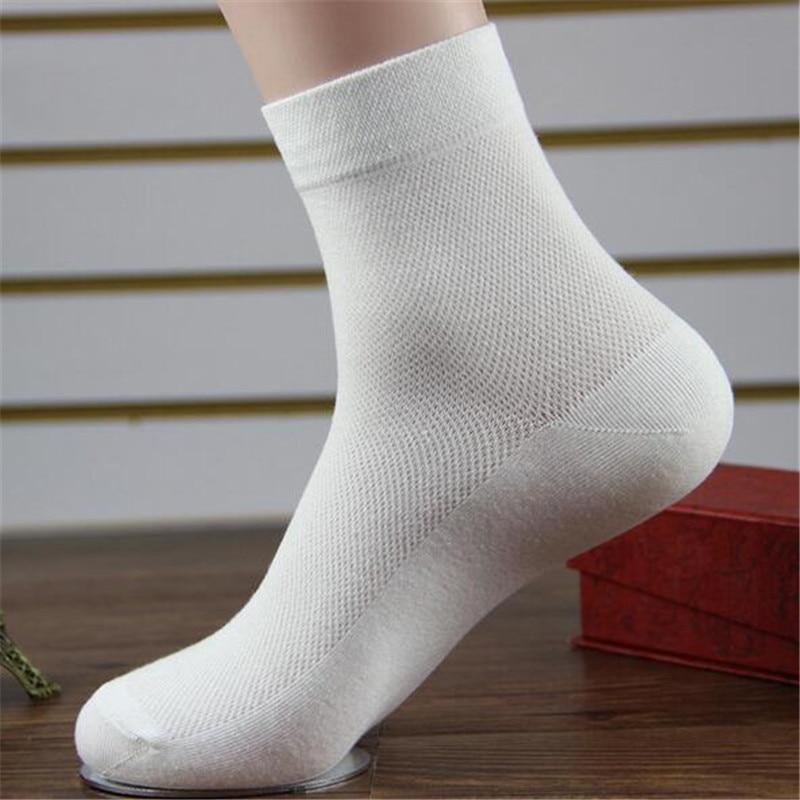 Underwear & Sleepwears 10pairs/lot High Quality Mens Men Summer Comfortable Breathable Mesh Thin Cotton Socks Male Fashion White Short Socks Free J4