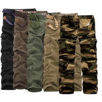 Men Pants 2017 New Arrival Men Brand Mens Military Army Green Multi Pockets Cargo Pants Casual