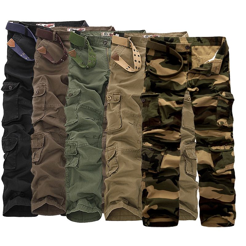 POFUNUO Military Tactical Trousers Cotton Cargo Pants Men