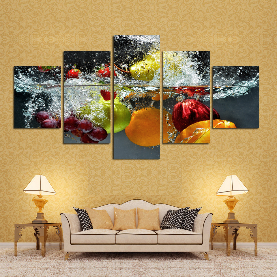 5 Panels Wall Art Painting Print On Canvas Picture Modern Fruits ...