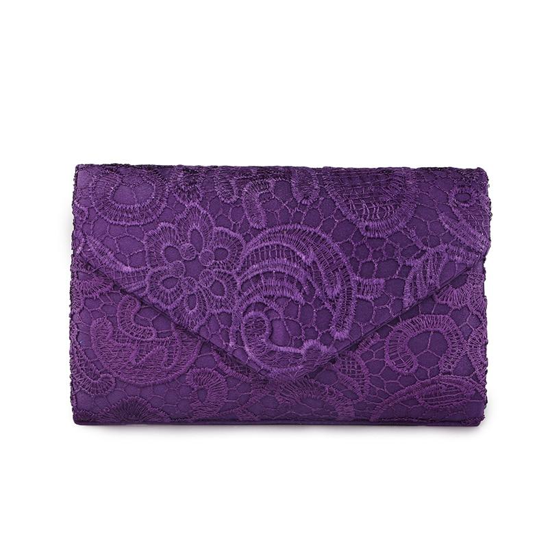 Pochette Soirée Mauve : Elegant designer envelope women clutches flap