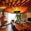 Японский китайский стиль led деревянный подвесной светильник для гостиной ресторана столовой подвесной светильник