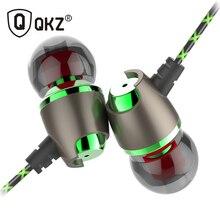 D'origine QKZ DM11 Magnétique Stéréo BASSE En Métal dans L'oreille EarphoneJogging Écouteurs HiFi HD Oreille Microphone pour Téléphone MP3 Sport Casque