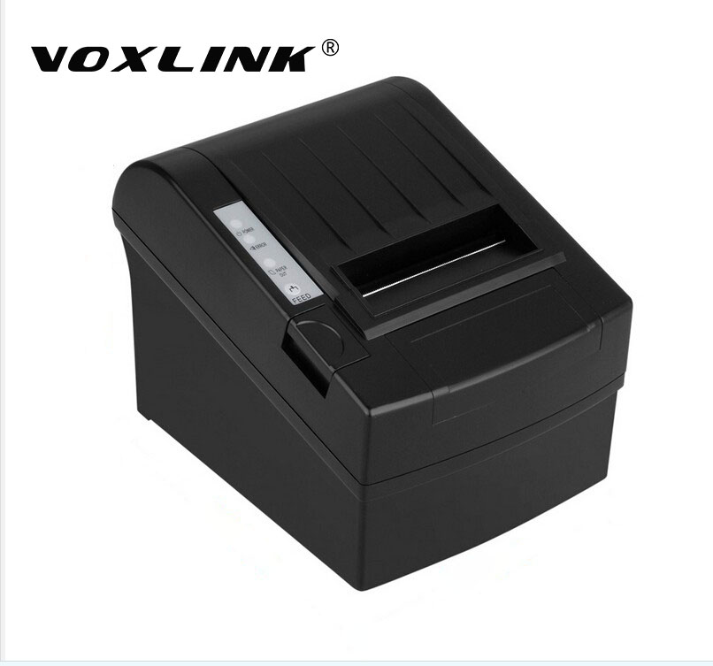 VOXLINK 300mm/s 80MM POS Thermal Receipt Printer Thermal Printing Esc USB port Ethernet lan Interface Auto Cutter Printer 300 mm s print speed black 80mm pos thermal receipt printer auto cutter cut windows2000 xp vista 8 10 linux usb ethernet