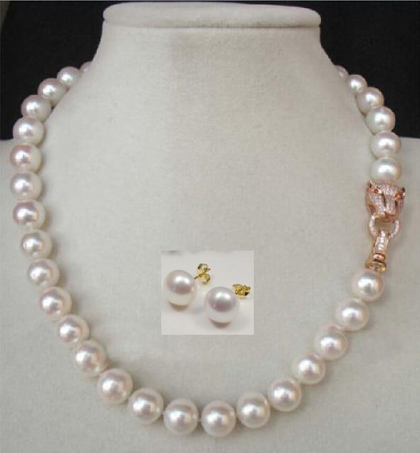 Здесь можно купить    Charming 18 10-11MM AAA++ GENUINE WHITE SOUTH SEA NATURAL PEARL NECKLACE earring   Ювелирные изделия и часы