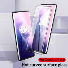 HereCase for oneplus 7 pro 3D Curved Edge Full tempered glass cover for oneplus 7 one plus 7pro glass Thin Screen Protector