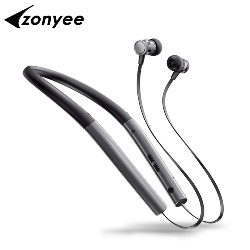 Zonyee BT780 Bluetooth Earphone With MIC Gym Sport Wireless Headset Metal Magnetic Earbuds Headphones For Xiaomi iPhone SE 7 8 100% original bluetooth headset wireless headphones with mic for doogee x5 max pro earbuds