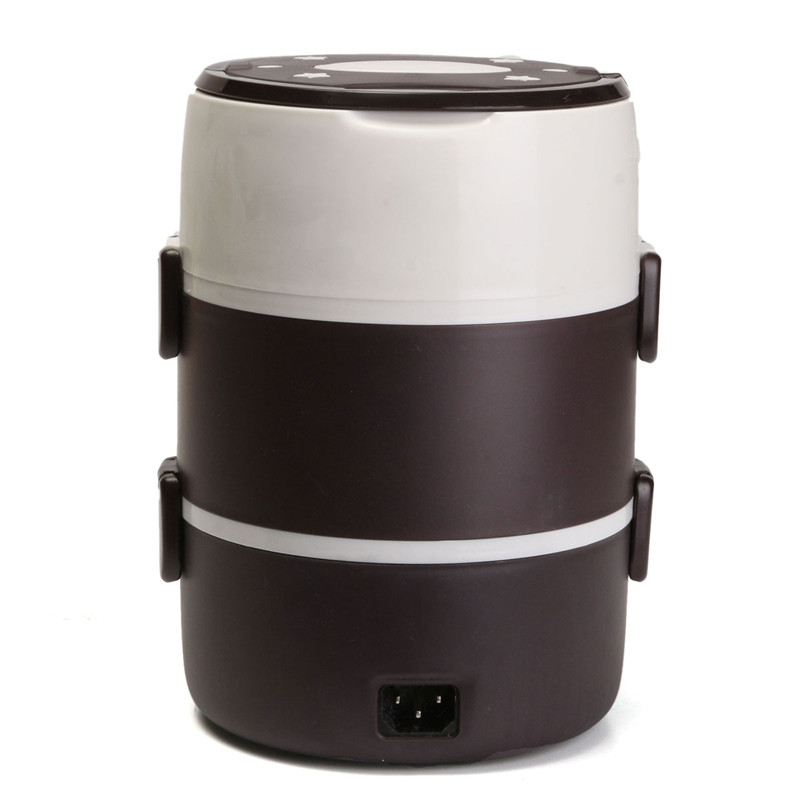 1.6L Mini rice cooker two/three layers multifunctional insulation plug-in electric heating cooking lunch box cukyi stainless steel 304 liner double layer electric heating lunch box multifunctional household cooking rice steam heating