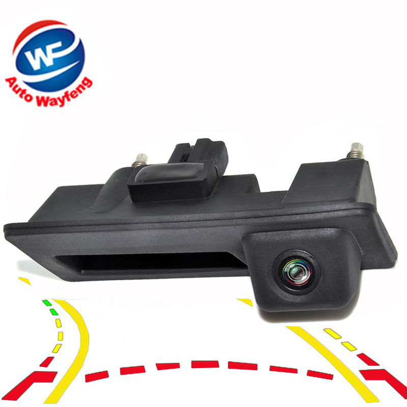 600Line CCD Dynamic Trajectory Trunk handle Rear View Camera For VW Passat Tiguan Golf Touran Jetta