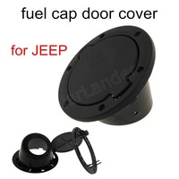 hot Stainless Steel Black ABS Gas Fuel Tank Cap Door Cover Fit for Jeep Wrangler 2007 2008 2009 2010 2011 2012 2013 2014 2015