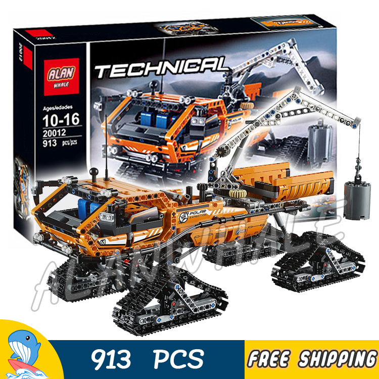 913pcs 2in1 Techinic Ice Arctic Truck Tracked Pickup 20012 Model Building Blocks Assemble Toy Brick Vehicle Compatible With lego джилет антиперспирант arctic ice твердый 48г