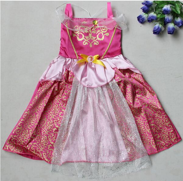 DB23655 Children Girl princess sofia dress-16