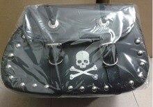 Free shipping motorcycle conversion Bag box hanging box side edging tool kit-bag Motorcycle saddle bag / Kito black with rivets