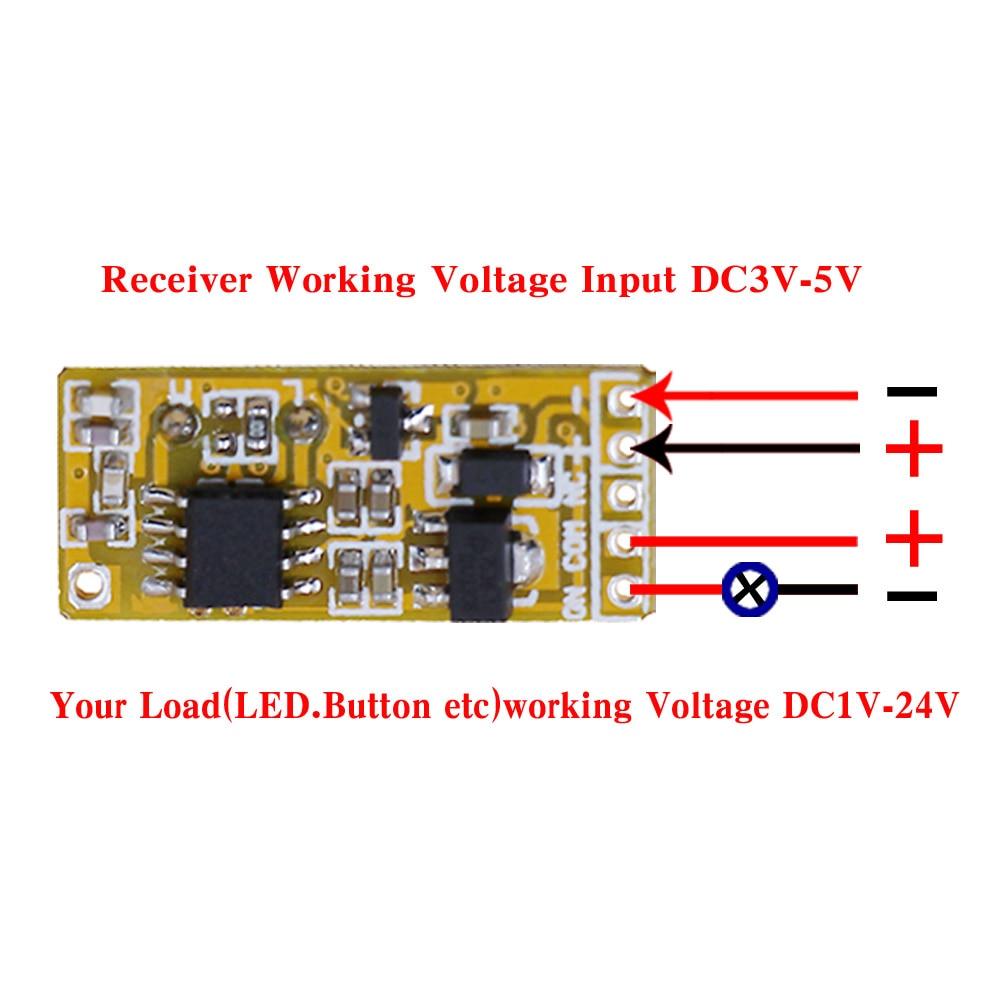 High Sensitivity Small Remote Relay Switch DC 35V 12V Mini Receiver