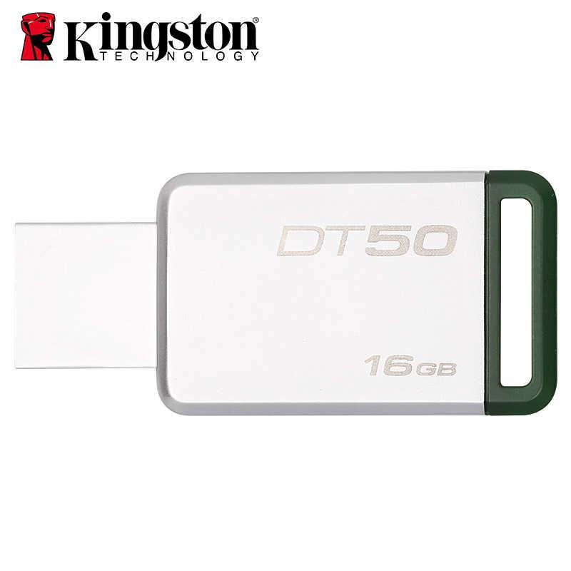 Kingston Mini USB 3,0 Pendrive 32GB 128GB USB Flash Drive 64GB USB 3,1 Pendrive 16GB Mental Pen Drive 8GB de memoria DT50