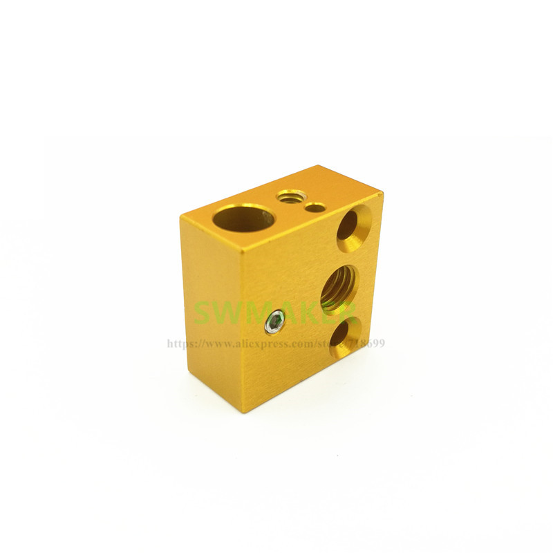 все цены на SWMAKER Creality 3D printer Original heater block 20x20x10mm for Creality CR-10 CR-10S 3D printer MK10 hotend kit
