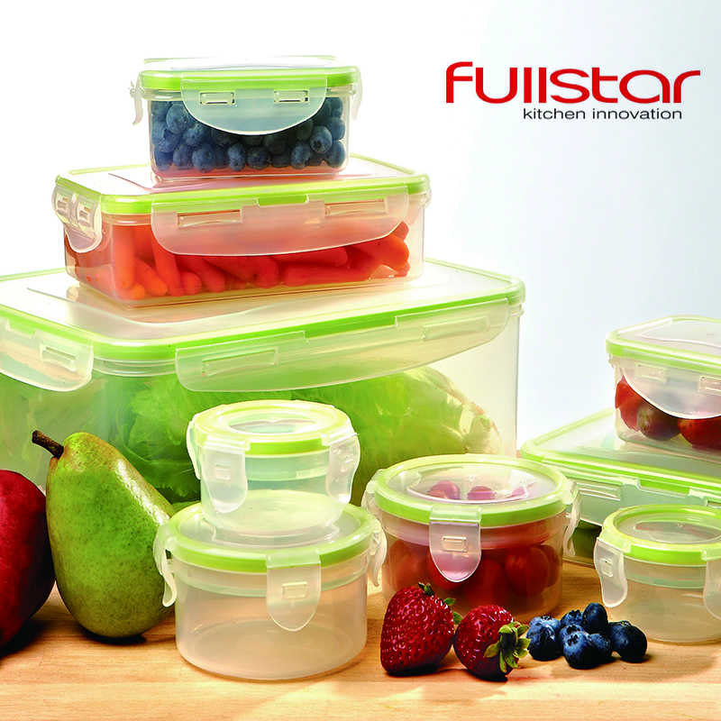 Fullstar Plastic Box Lunchbox kitchen accessories Food Container for Microwave 9 PCS for vegetable kitchen tool
