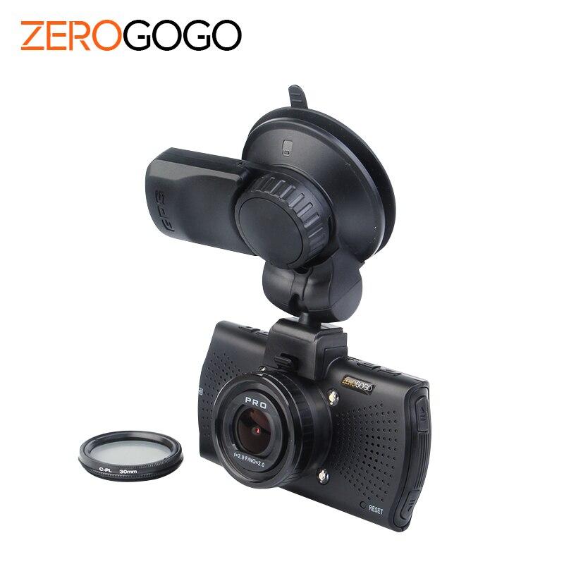 imágenes para A7LA70 Ambarella Del Coche DVR GPS de la Cámara DVR Super HD 1296 p WDR Visión nocturna Dash Cam 1080 p Grabador de Vídeo Cuadro Negro CPL A7810G Pro
