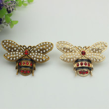 2 color Luggage hardware accessories zinc alloy handbag Set auger lovely pearl bees decoration buckle bag Hardware accessories(China)