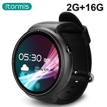 Itormis W04 Pro Inteligente Smartwatch Reloj Bluetooth Quad-core Android 5.1 OS MTK6580 Ram 2G Rom 16G 3G GPS Wifi PK KW99 KW88 KW18