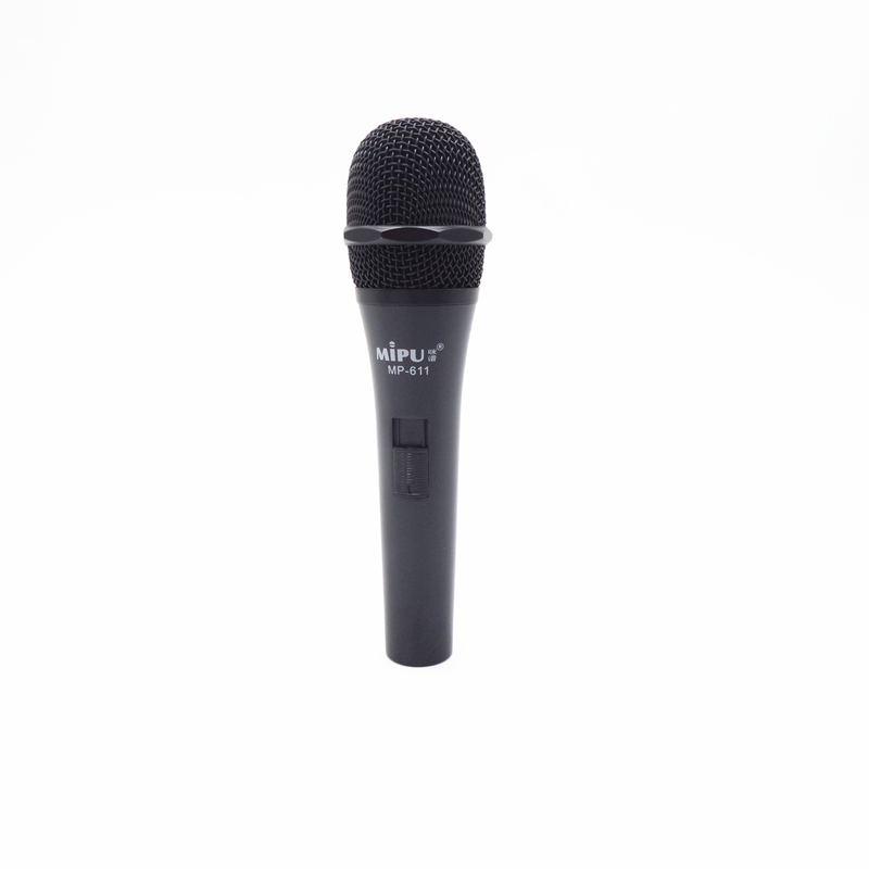 mipu mp611 high quality voice clear dynamic microphone silver handheld wired microphone for. Black Bedroom Furniture Sets. Home Design Ideas