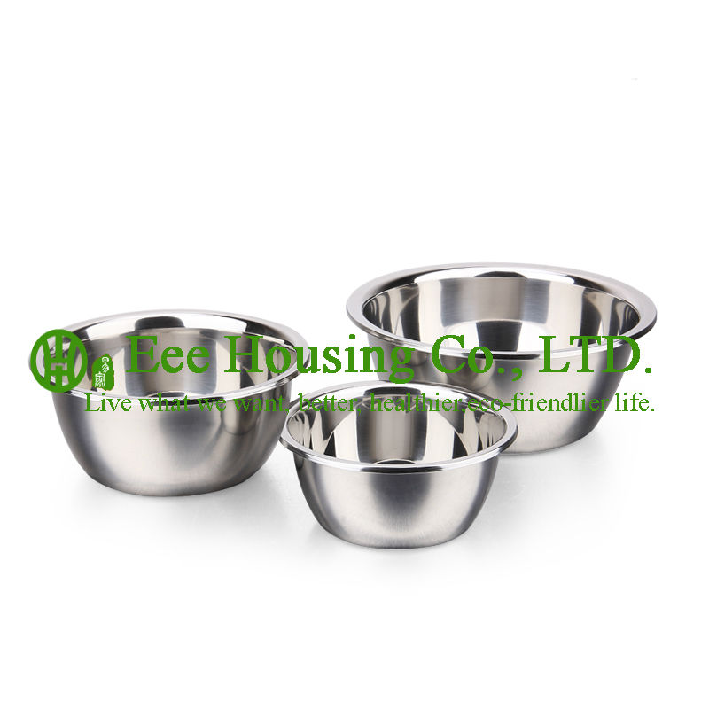 Stainless Steel Cooking Cookware Kitchen Set Free Shipping Factory Price 3 Pieces Seasoning Bowl Storage Food,Stir Food Kitchen