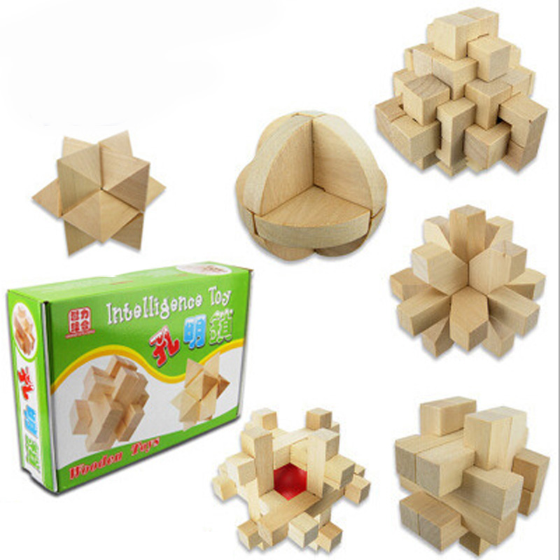Wood Building Wooden Jenga Game Educational Toys Kong Ming Luban Lock Children High Quality Puzzle Brain Training Toy pop MZ25 heart shape ru bun lock children puzzle toy building blocks