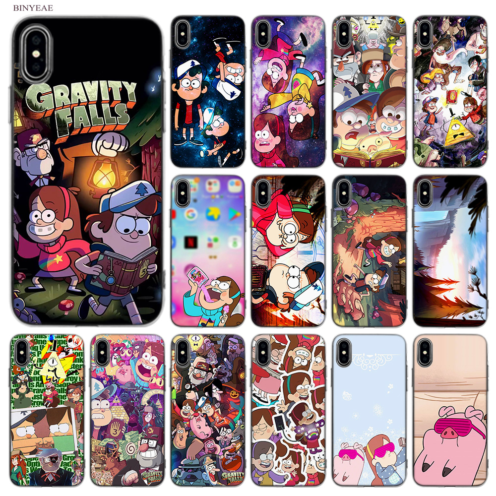 BINYEAE Cartoon Anime Gravity Falls Soft Styles Design TPU Silicone Case Cover Coque Capa Fundas Shell for Apple iPhone X 10 Ten
