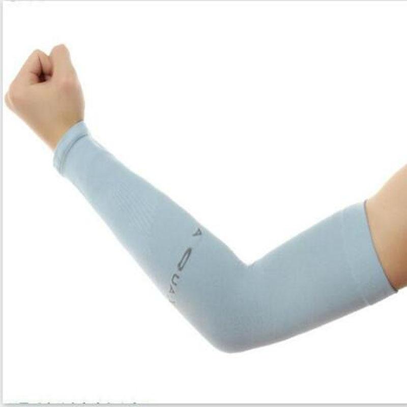 2017 New Brand Ice Silk Sunscreen Cuff Unisex Short Sleeve Cuff UV Outdoor Ice Silk Sleeve 7 Colors Choice Free Shipping