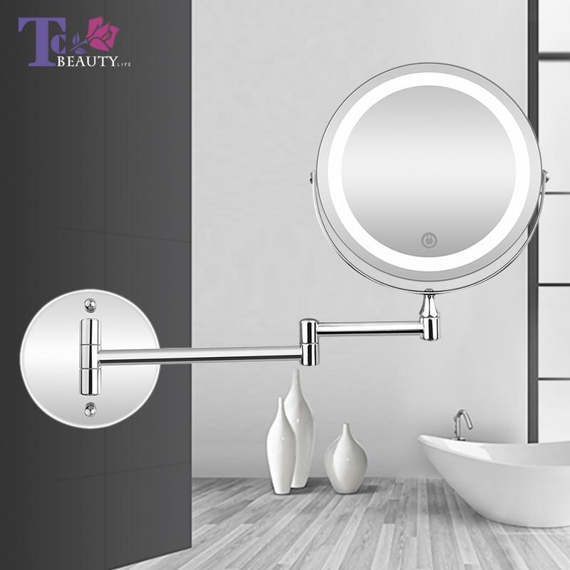 kopen goedkoop led make up spiegel met licht vouwen. Black Bedroom Furniture Sets. Home Design Ideas