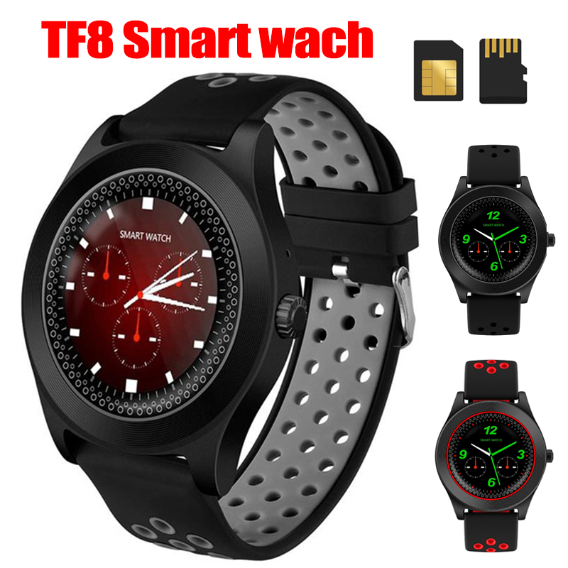 TF8 Smart Watch Fitness Tracker Bluetooth Sport Smartwatch Fashion Round Touch Screen Smartwatch Support Sim Memory Card-in Smart Watches from Consumer Electronics