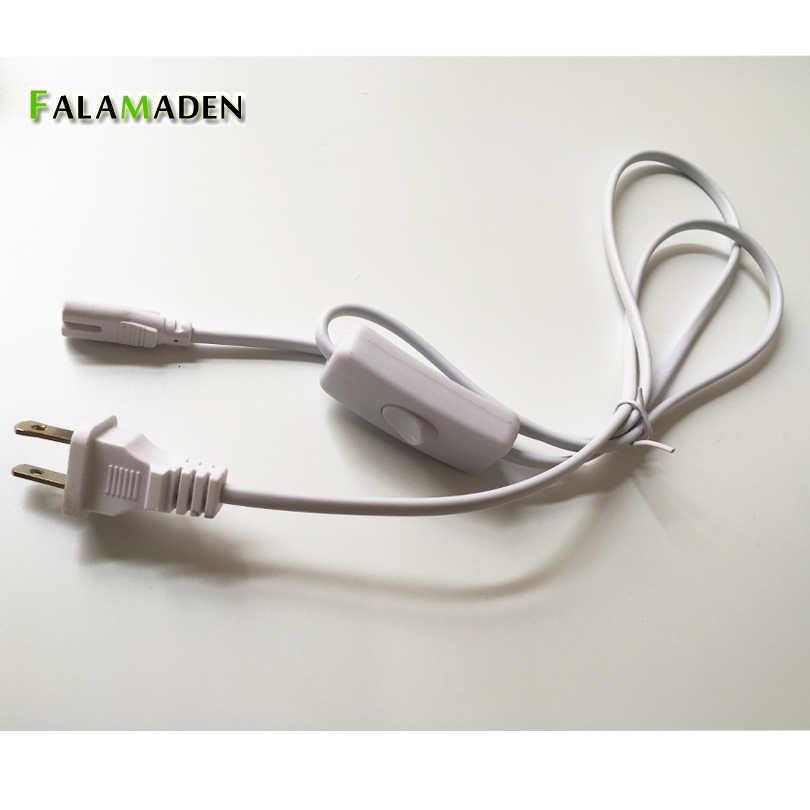 1,2 м T5 силовой кабель для светодиодные лампы штепсельная вилка стандартов ЕС и США, по которым вы должны выбрать провод Максимальная 2.5A 250 V с переключателем