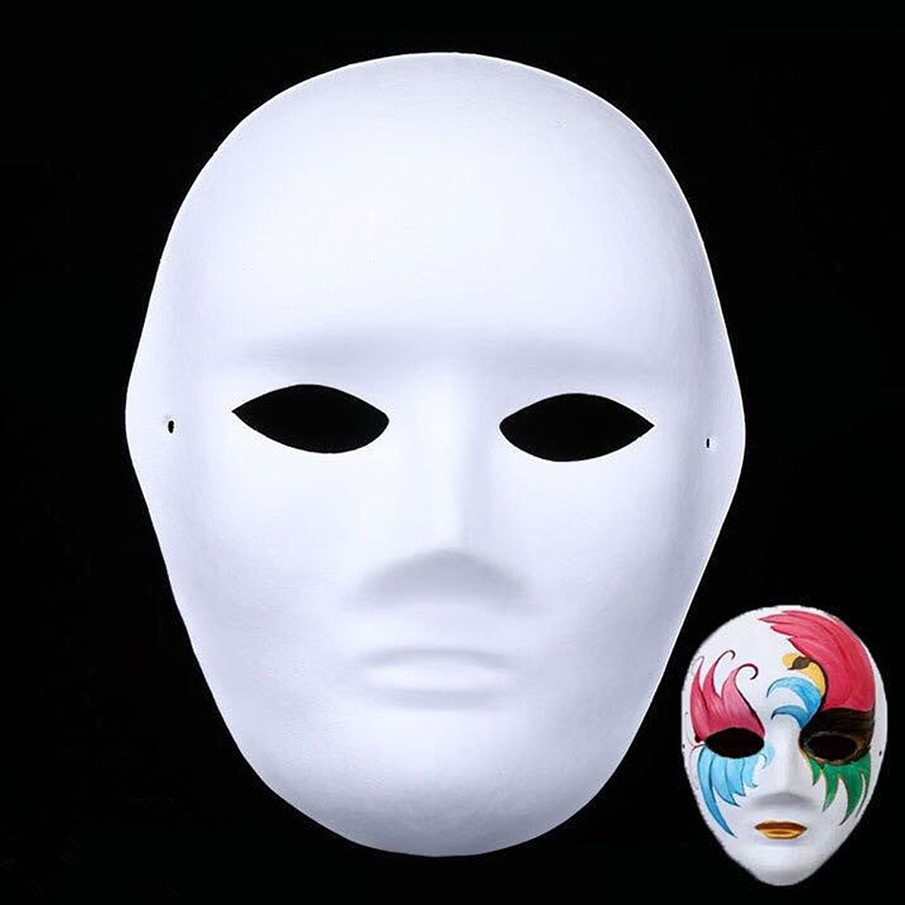 Craft Toys 12pcs Children Party Mask DIY Masquerade Halloween Blank Painting Mask