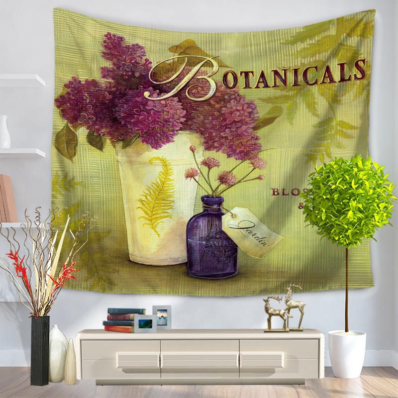Bonsai Wall Tapestry Bohemian Decor Tapestry Colored Printed Hippie ...