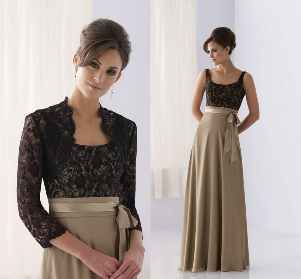 80b65a199d7 2015 Charming Spaghetti Strap Lace Chiffon Mother of The Bride Dress with Lace  Jacket Mother Dress