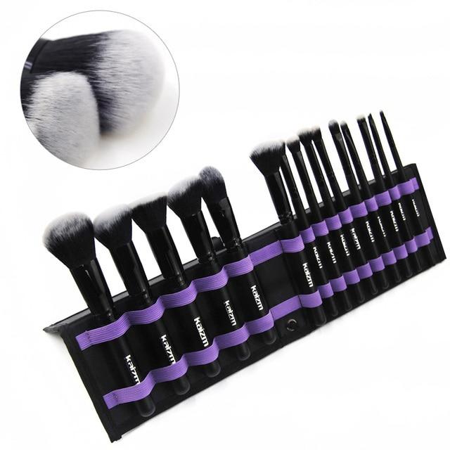 15Pcs  Women's Fashion synthetic Makeup Brushes Set Powder Foundation Eye shadow Cosmetics Beauty Soft Hair Maquiagem Tool Kits 3