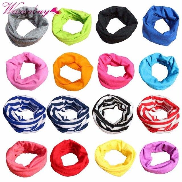 Для маленьких мальчиков девочек теплый шарф хлопка шеи платок шейный платок Дети шарфы