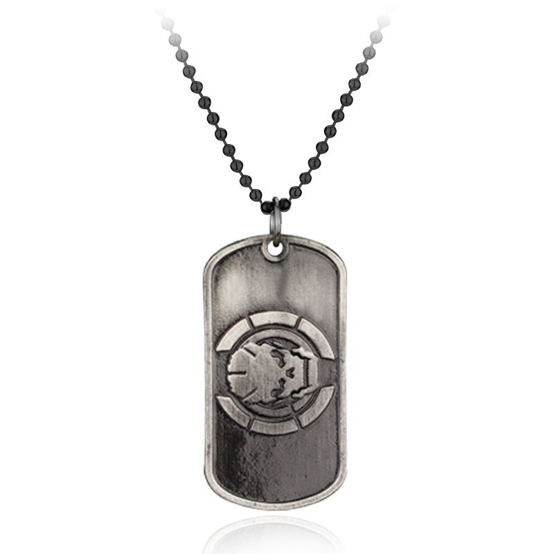 Movie Jewelry PS4 Game Duty Ghost Joint Offense Black OPS Pendant Necklace Call Black Leather Rope Collar Gift