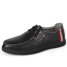 EU38-47 Grade En Cuir De Vache Casual Chaussures Hommes Véritable Mocassin En Cuir Patchwork Lacent Hommes Chaussures Qualité Robe Chaussures Pour Hommes