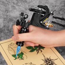 2-in-1 profesjonalny obrotowy maszynka do tatuażu z precyzyjny silnik prądu stałego dostaw dla Liner i Shader maszynka do tatuażu zestaw tanie tanio gazechimp Motor Tattoo Machine Tatuaż zestawy
