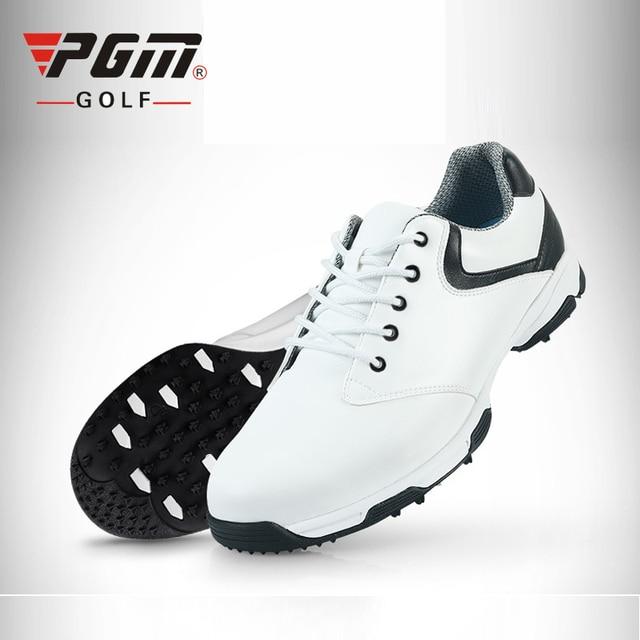 17fb73ed28 PGM cuero genuino Golf para hombres patente marca zapatillas deportivas de  los hombres pico zapatos de