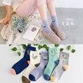 Mujeres Calcetines de Algodón de Las Señoras Sokken Lindo Cactus Planta Punto Divertido Diseño de Moda Calcetines de La Novedad Harajuku Chaussettes Meias Femininas