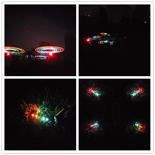 1pair/2pairs 8331 Low-Noise Quick-Release Propellers Folding LED Light Flash Propellers for Mavic Pro or Mavic Pro Platinum