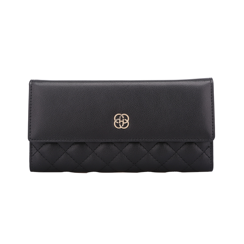 Women Fashion Wallets Genuine Cowhide Leather High Quality Designer Famous Luxury Brand Female Long Multi-function Wallet Clutch famous women luxury brand wallets genuine leather purse clutch ladies rivet pink wallet designer high quality long wallet thin
