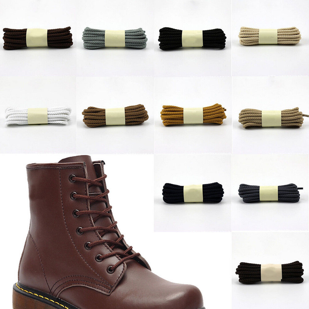 BULK buy 50 Pairs Round Shoelaces Boots Hiker Shoelaces Leather Shoes Martin Boots Hiker Shoelaces kingcamp hiker 3