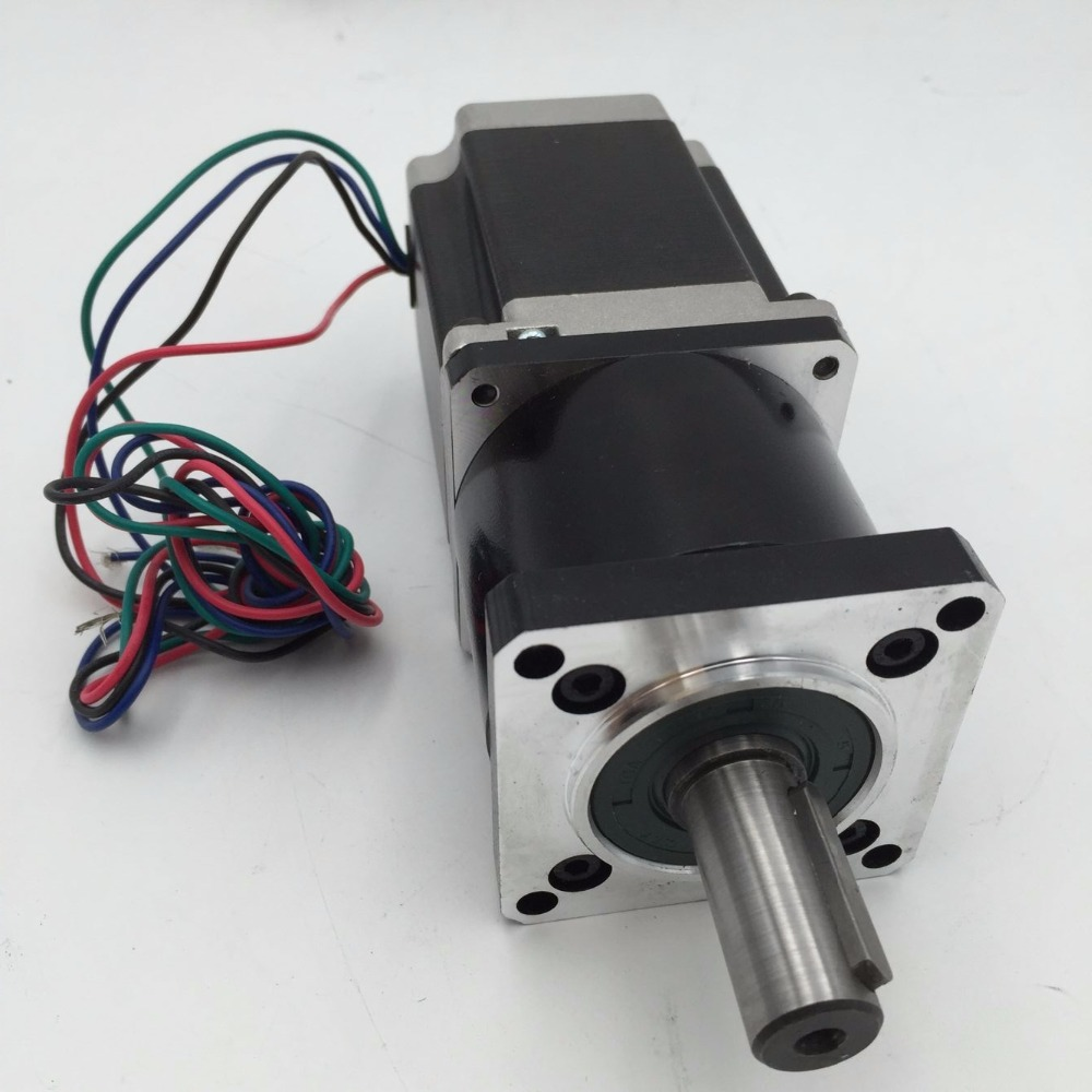 Редуктор + NEMA23 1.1Nm комплекты для мотора соотношение 100:1 Планетарная Мотор шаговый двигатель 57 мм L56mm 3A 14 мм вал с пазом для ЧПУ